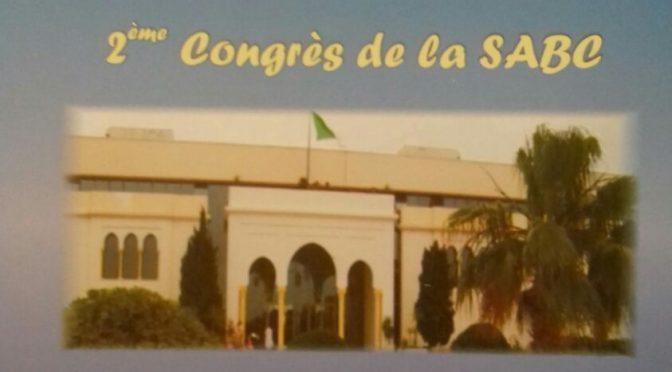 2ème Congrès de la SABC – 23/24 Mai 2010
