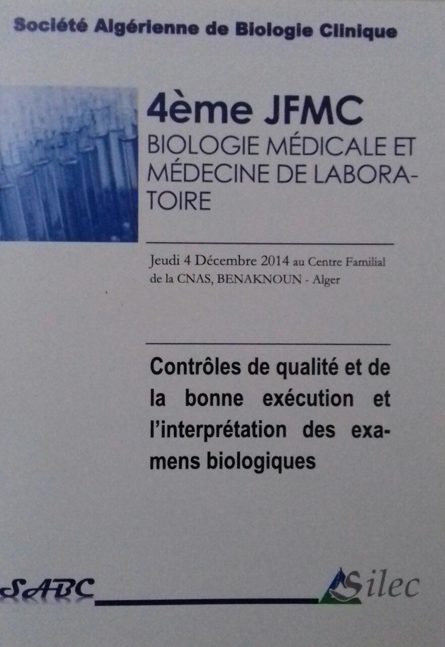 4ème Jnée de Formation Médicale Continue – 2014